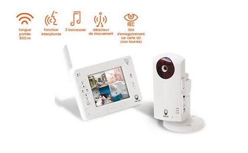 kit de surveillance audio et video pour bébé