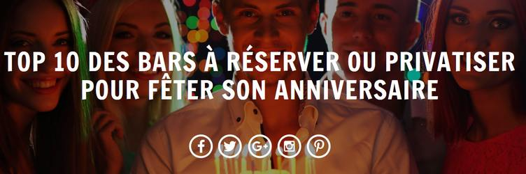 top bars anniversaire à Paris